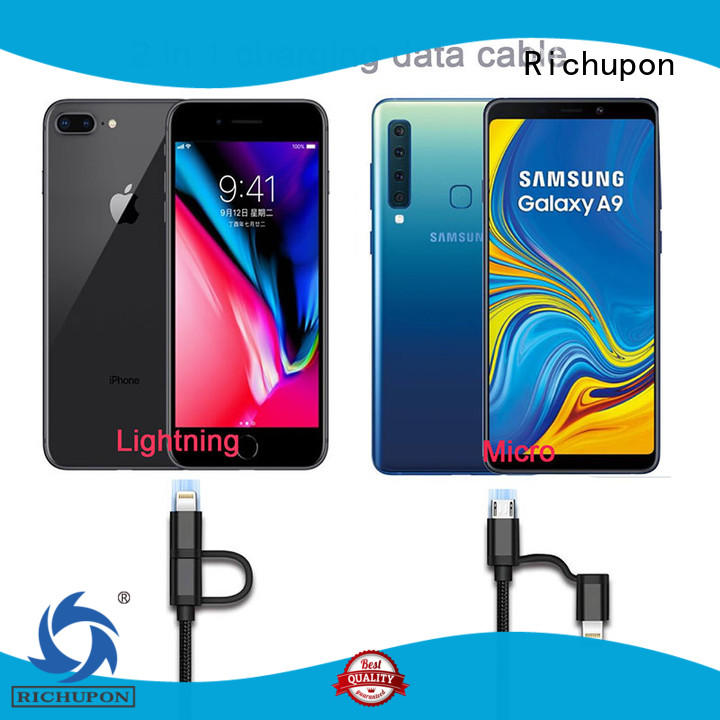 Richupon 2 in one usb cable supplier for data transmission
