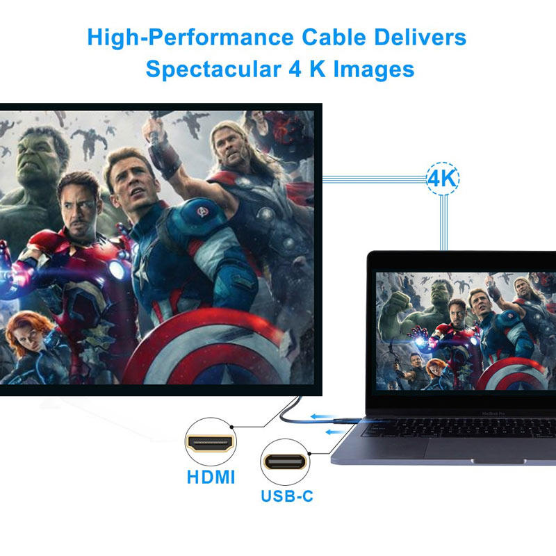 Monitor cable 4k60hz high speed usb c 3.1 to HDMI cable