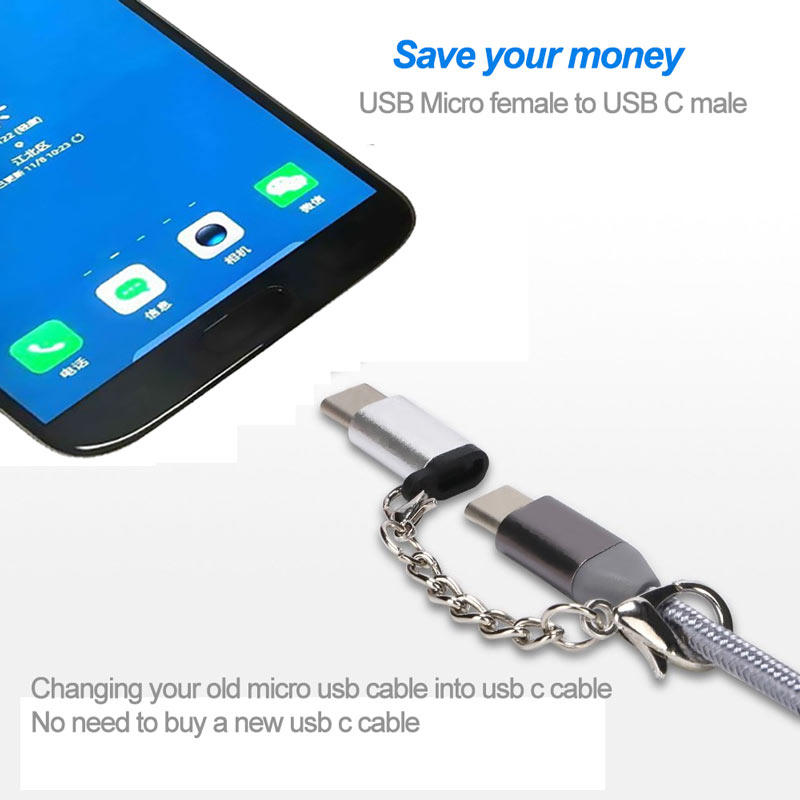 Mobile phone accessory usb-c male to micro usb female converter usb adapter supplier