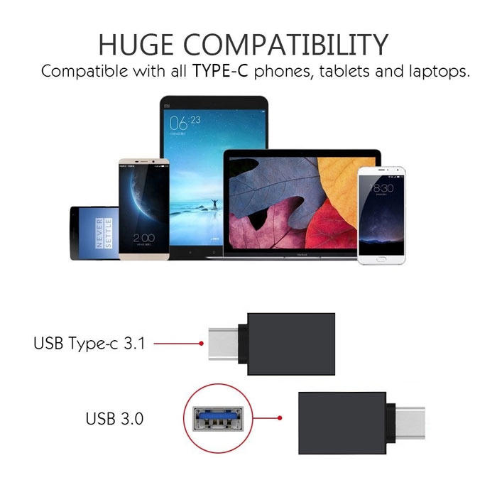 Usb adapter high-speed usb 3.0 and 3.1type for apple