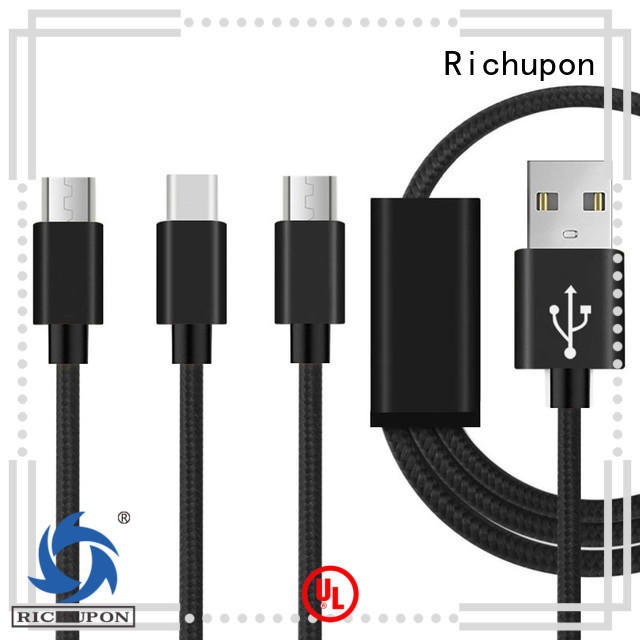 Richupon good quality 3 in 1 usb data cable vendor for charging