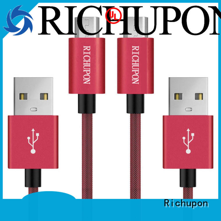Richupon micro usb power cable for manufacturer for video transfer
