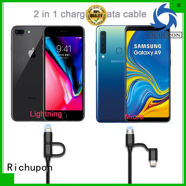Richupon competitive price 2 to 1 usb cable directly sale for charging