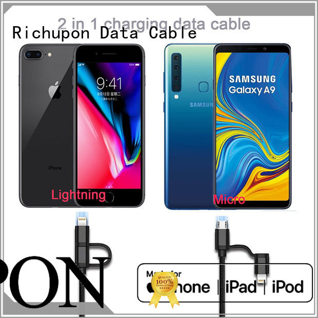 Richupon competitive price usb 2 in 1 wholesale for charging