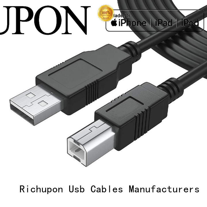 Richupon Custom usb 3.0 type a to type b cable suppliers for data transfer