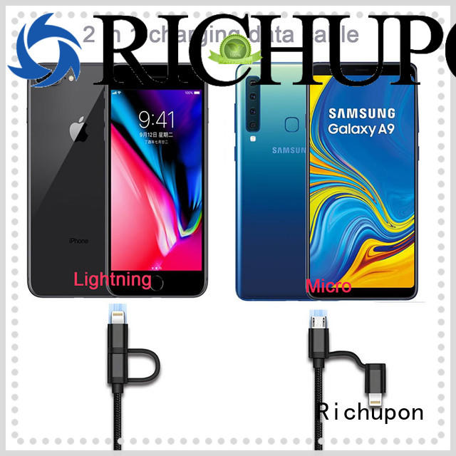 Richupon 2 in 1 usb cable 2 to 1 for manufacturer for charging