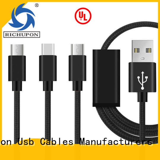 Richupon fast 3 in 1 phone charger cable supply for mobile
