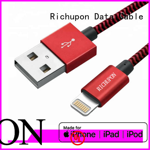 Richupon fashion design best braided lightning cable directly sale for data transfer