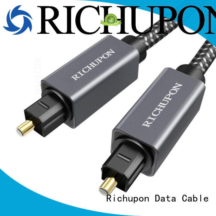 Richupon reliable quality optical audio cord vendor for data transfer