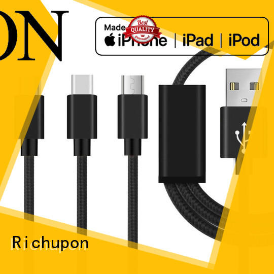 Richupon reasonable price 3 in 1 usb cable manufacturer for charging