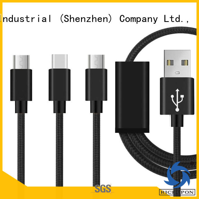 Richupon 3 way usb cable for wholesale for data transmission
