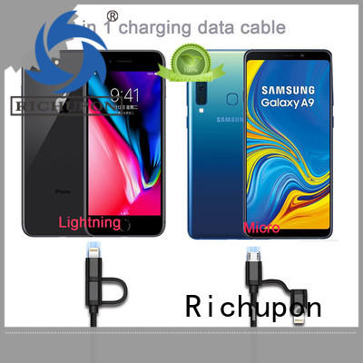 Richupon cable 2in1 lightning manufacturers for data transmission