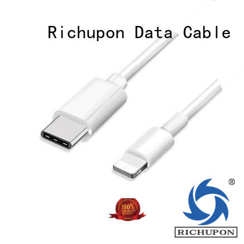 Richupon fashion design apple mfi cable bulk production for data transmission