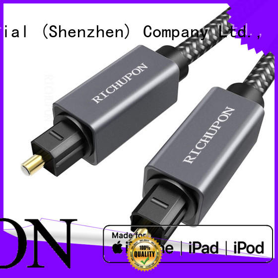 Richupon plated toslink digital audio cable supply for video transfer