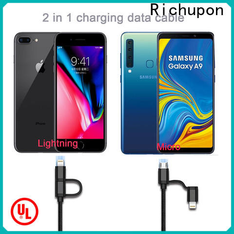 Richupon micro mi 2 in 1 usb cable 30cm suppliers for mobile