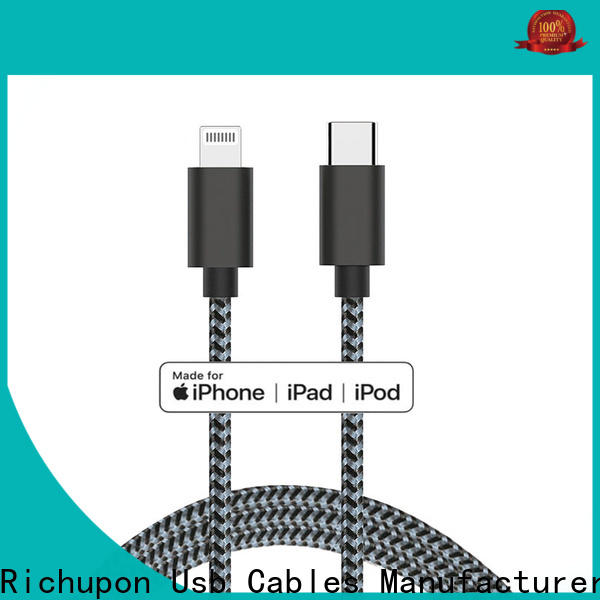 Top lightning to micro usb cable nylon company for data transmission