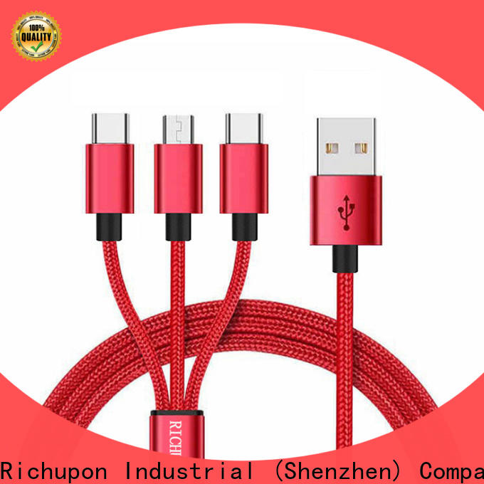 Richupon Best trident 3 in 1 charging cable for business for mobile
