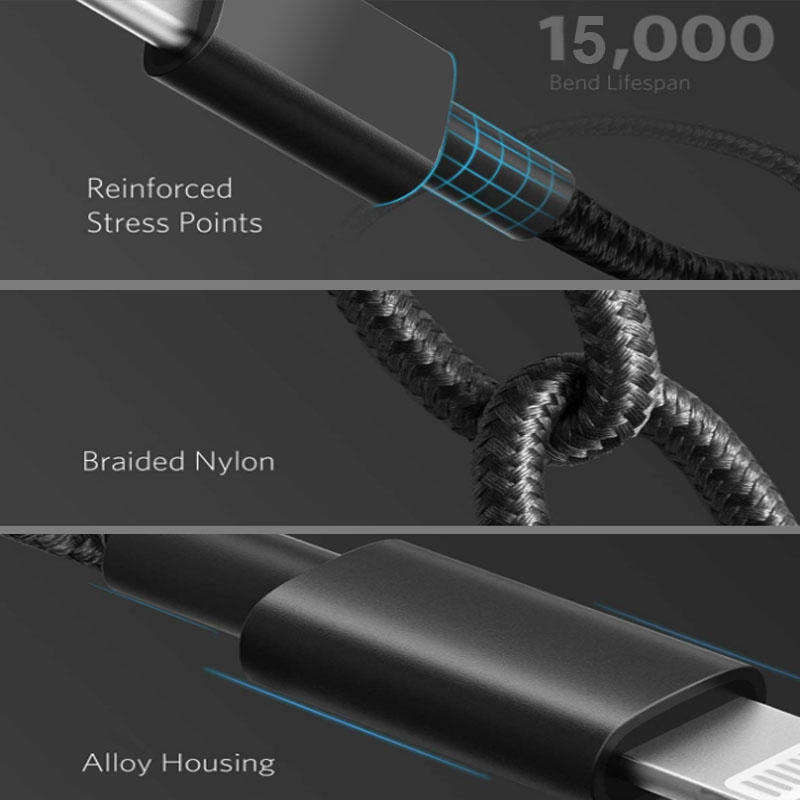 Wholesale MFI USB C To Lightning Cables Manufacturer for iPhone 12 iPad